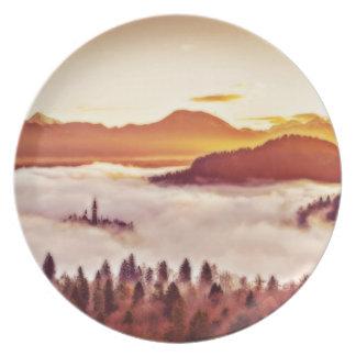 Assiette Vallée brumeuse