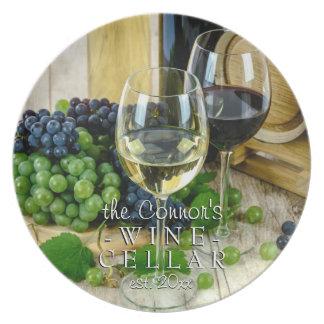 Assiette Verre de vin, cave