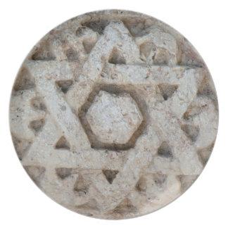 Assiette Vieille étoile de David découpant, Israël