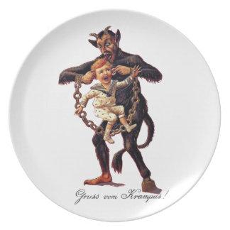 Assiette Vom de Gruss (salutations de) Krampus