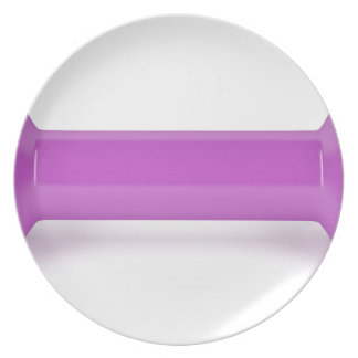Assiette Vue de face d'haltère rose