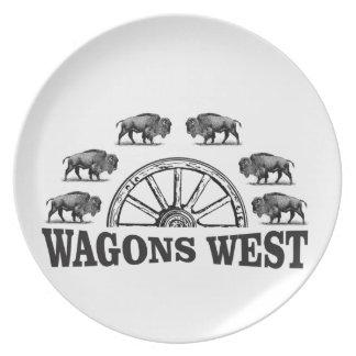Assiette yeehah occidental de chariots