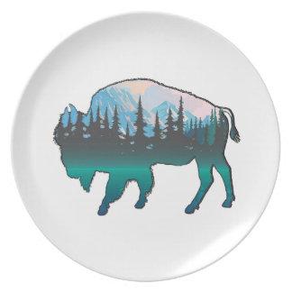 Assiette Yellowstone errant
