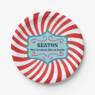 Assiettes En Carton Plats vintages personnalisés de partie de cirque