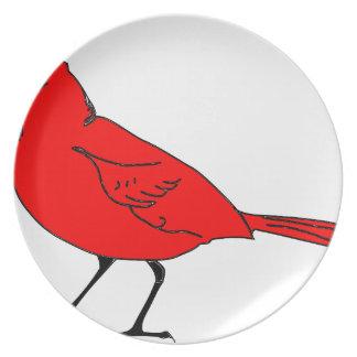 Assiettes En Mélamine #2 cardinal