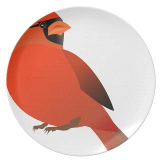 Assiettes En Mélamine #3 cardinal