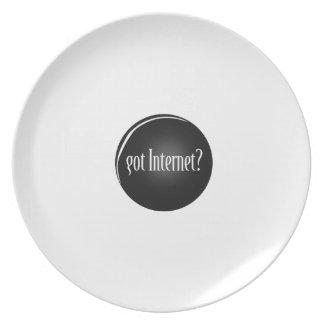 """Assiettes En Mélamine """"A obtenu l'Internet"""", Internet, Internet obtenu"""