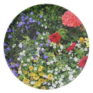 Assiettes En Mélamine Affichage floral 2