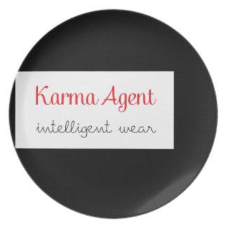 Assiettes En Mélamine agent de karma - usage intelligent, énergie