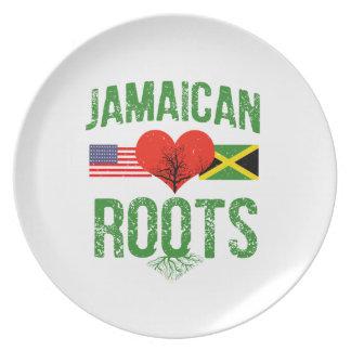 Assiettes En Mélamine Américain jamaïcain