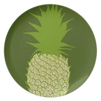 Assiettes En Mélamine Ananas