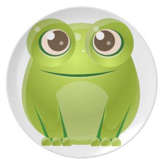 Assiettes En Mélamine Animal de bébé de grenouille dans le style doux