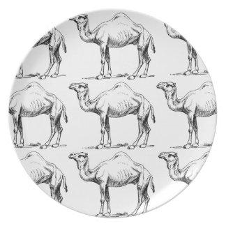 Assiettes En Mélamine Art de troupeau de chameau