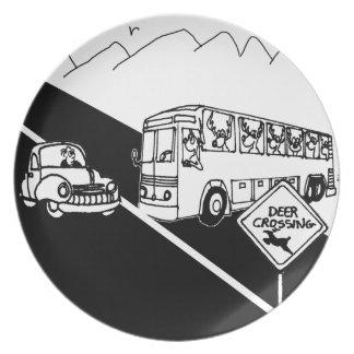 Assiettes En Mélamine Bande dessinée 3251 d'autobus