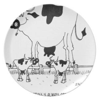 Assiettes En Mélamine Bande dessinée 3372 de vache