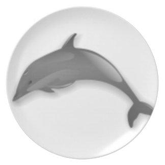 Assiettes En Mélamine Bande dessinée de dauphin
