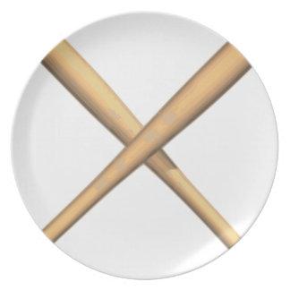 Assiettes En Mélamine Battes croisées