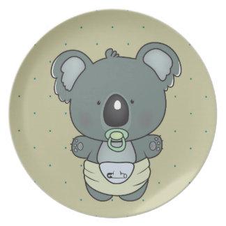 Assiettes En Mélamine bébé de koala