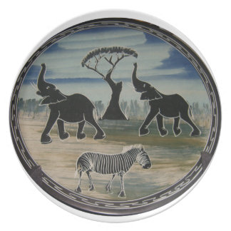 Assiettes En Mélamine Belle faune élégante de l'Afrique Kenya