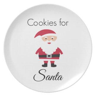 Assiettes En Mélamine Biscuits pour le plat de Père Noël