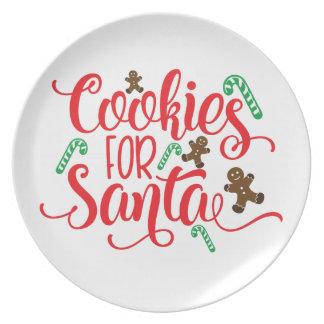 Assiettes En Mélamine Biscuits pour Père Noël