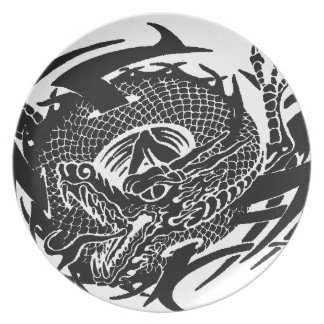 Assiettes En Mélamine Black Dragon 2.gif