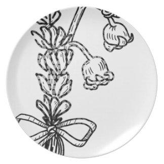 Assiettes En Mélamine Bouquet