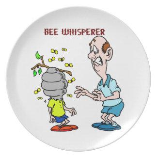 Assiettes En Mélamine Bourdon de Whisperer d'abeille d'amants d'abeilles