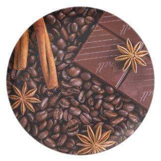 Assiettes En Mélamine café