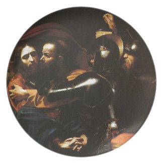 Assiettes En Mélamine Caravaggio - prise du Christ - illustration