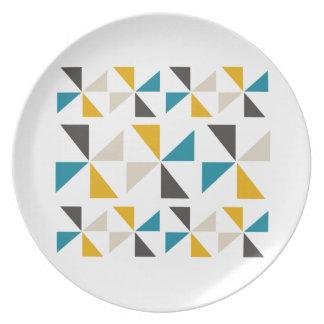 Assiettes En Mélamine Carré de triangle