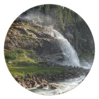 Assiettes En Mélamine cascade de krimml, Autriche