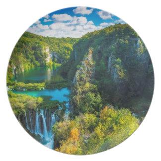 Assiettes En Mélamine Cascade élégante pittoresque, Croatie