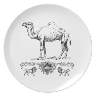 Assiettes En Mélamine chameau de fantaisie de lion