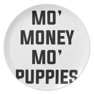 Assiettes En Mélamine Chiots de MOIS d'argent de MOIS
