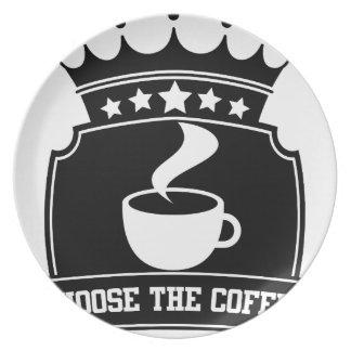 Assiettes En Mélamine choisissez le café