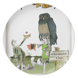Assiettes En Mélamine classe d'obéissance de Yorkshire d'amour