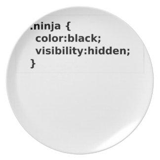 Assiettes En Mélamine Classe du codeur CSS de Ninja