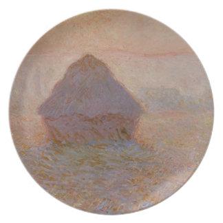 Assiettes En Mélamine Claude Monet | Grainstack, Sun dans la brume