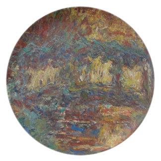 Assiettes En Mélamine Claude Monet | le pont japonais