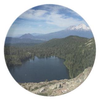 Assiettes En Mélamine Coeur Lake/Mt. Plat de Shasta