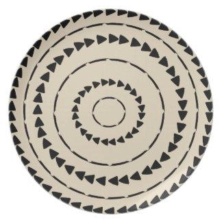 Assiettes En Mélamine Collection de Boho d'Africain - tissu de boue