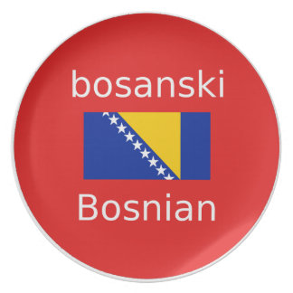 Assiettes En Mélamine Conception bosnienne de langue