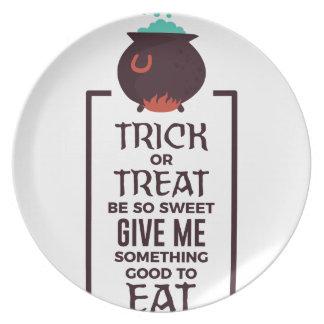 Assiettes En Mélamine Conception douce de Halloween de sucrerie de des