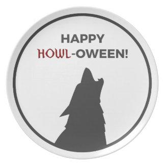Assiettes En Mélamine Conception heureuse de Halloween de loup-garou