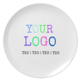 Assiettes En Mélamine Concevez votre propre logo personnalisé par