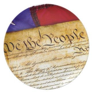 Assiettes En Mélamine Constitution 4 juillet l'indépendance du 4 juillet