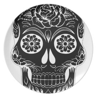 Assiettes En Mélamine Crâne abstrait
