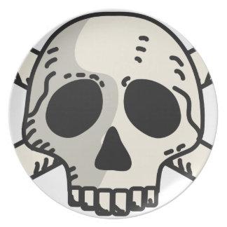 Assiettes En Mélamine Crâne et os croisés