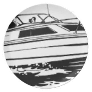 Assiettes En Mélamine Croiseur de bateau de vitesse